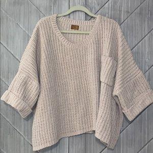 Chenille Short Sleeved Sweater